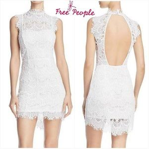 NWT Free People Daydream Lace Dress White-Small